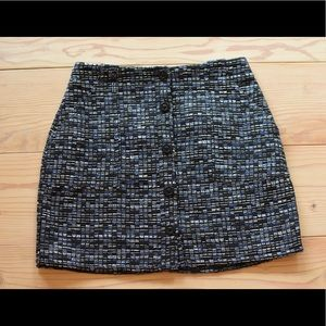 Banana Republic Tweed Button Front Skirt